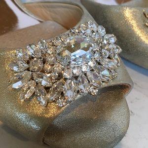Badgley Mischka Jeweled Heels